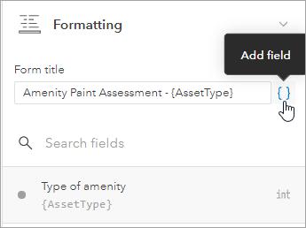 Add form title