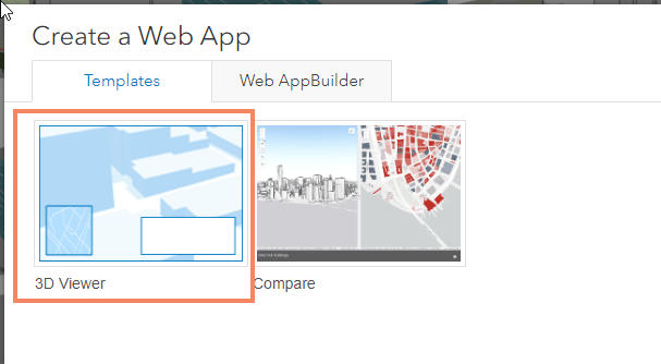 3D Viewer selected in the configurable apps template gallery