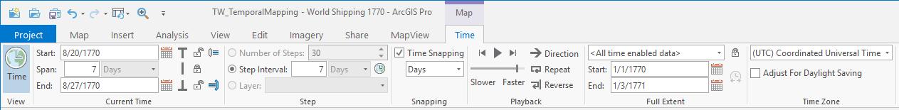 The Time ribbon tab