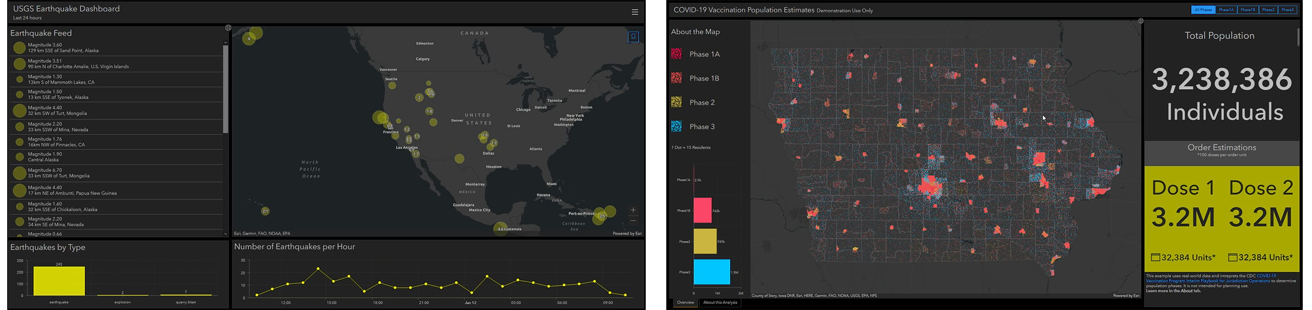 Take advantage of new capabilities of Map Viewer Beta when you bring the map to Dashboards Beta