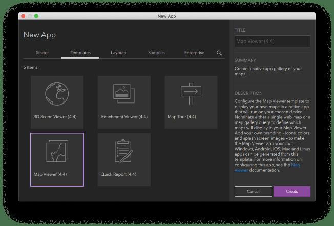 Create a new template from AppStudio Desktop