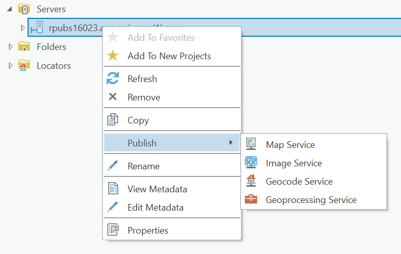 Publish services to a stand-alone ArcGIS Server