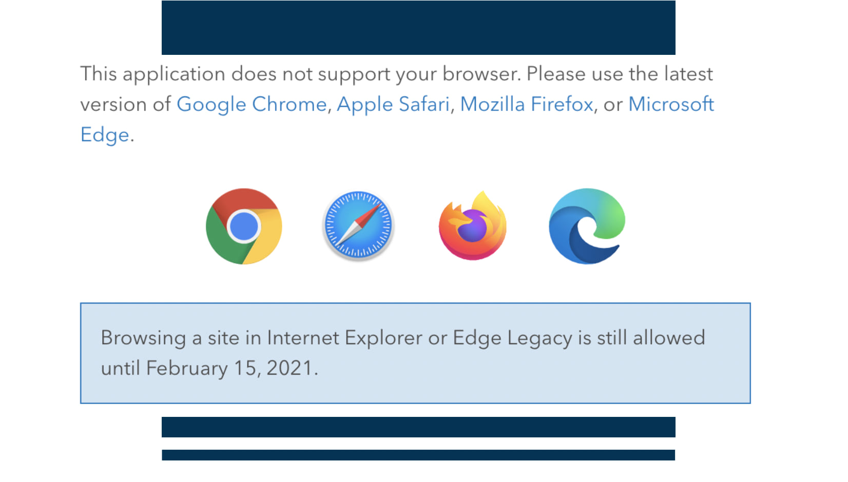 Unsupported browser message.