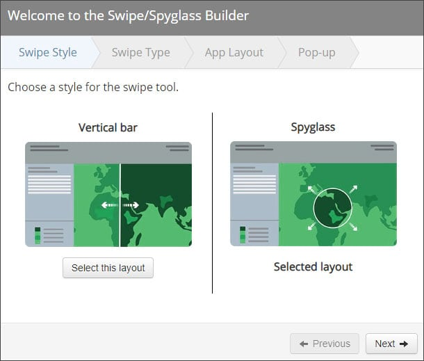 Story Map Swipe & Spyglass Builder