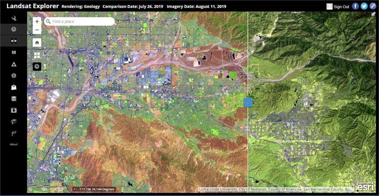 Landsat Explorer swipe