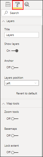 ArcGIS for Power BI format pane