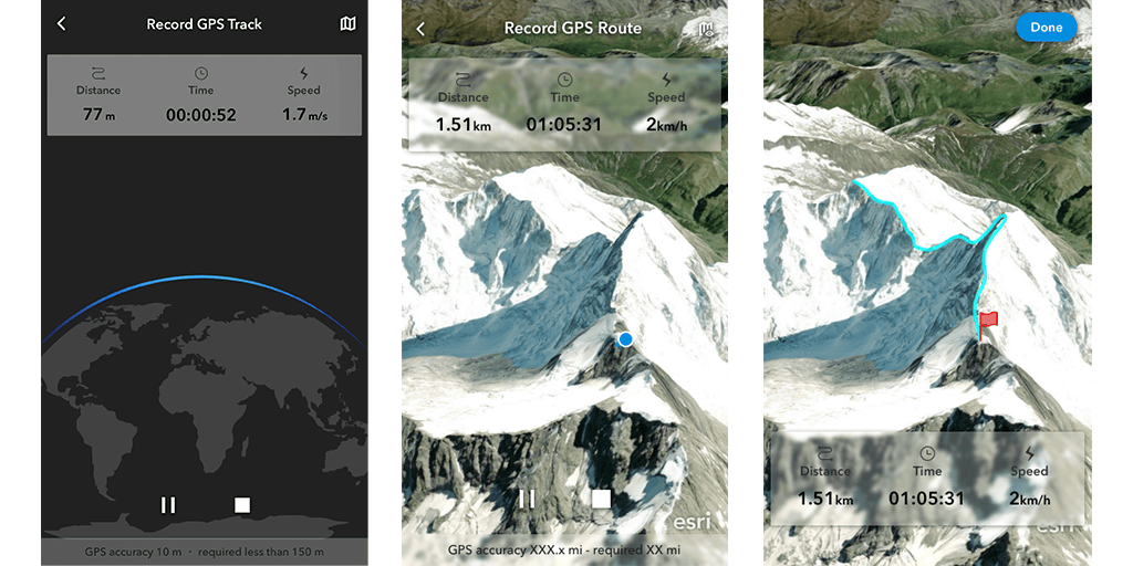 GPS Tracks in ArcGIS Earth mobile