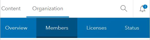 Organization page Members tab