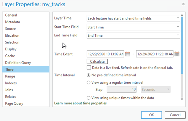 Configure Time on Layer