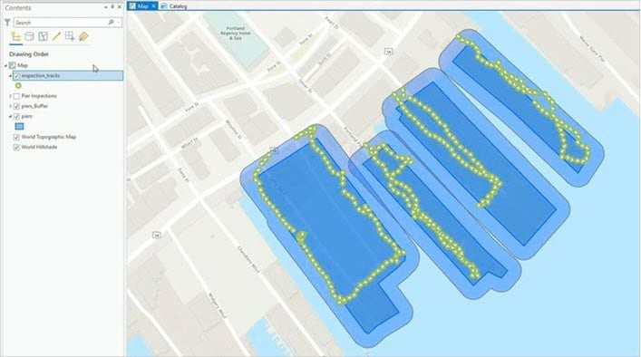 Verify inspections with track data