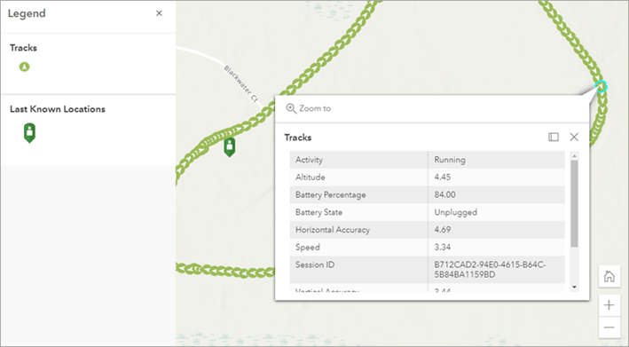 Track data in Map Viewer