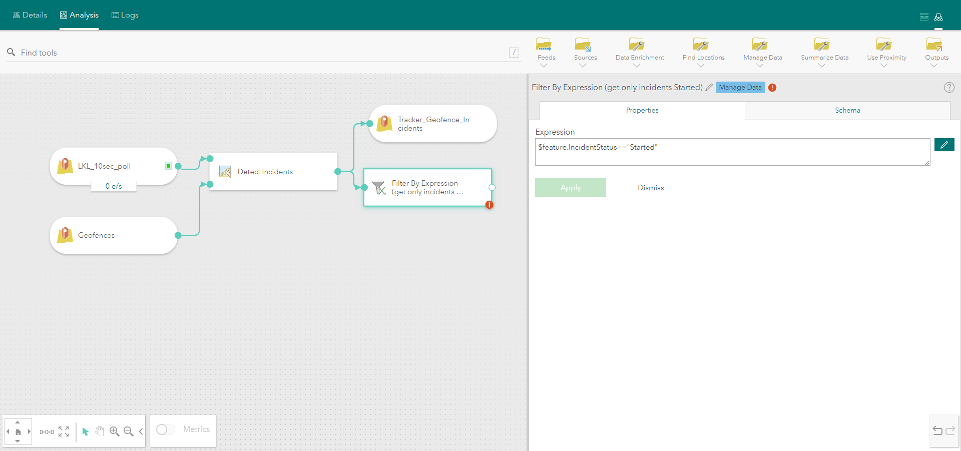 Filter by Attribute Tool Parameters