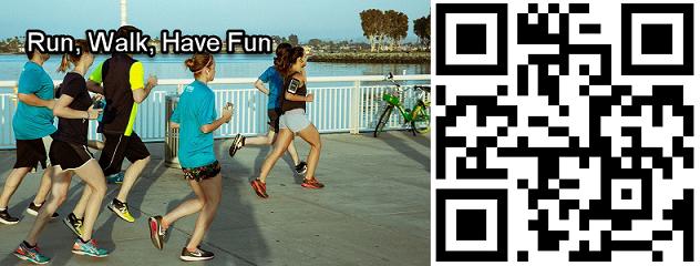 Run, Walk, Have Fun template