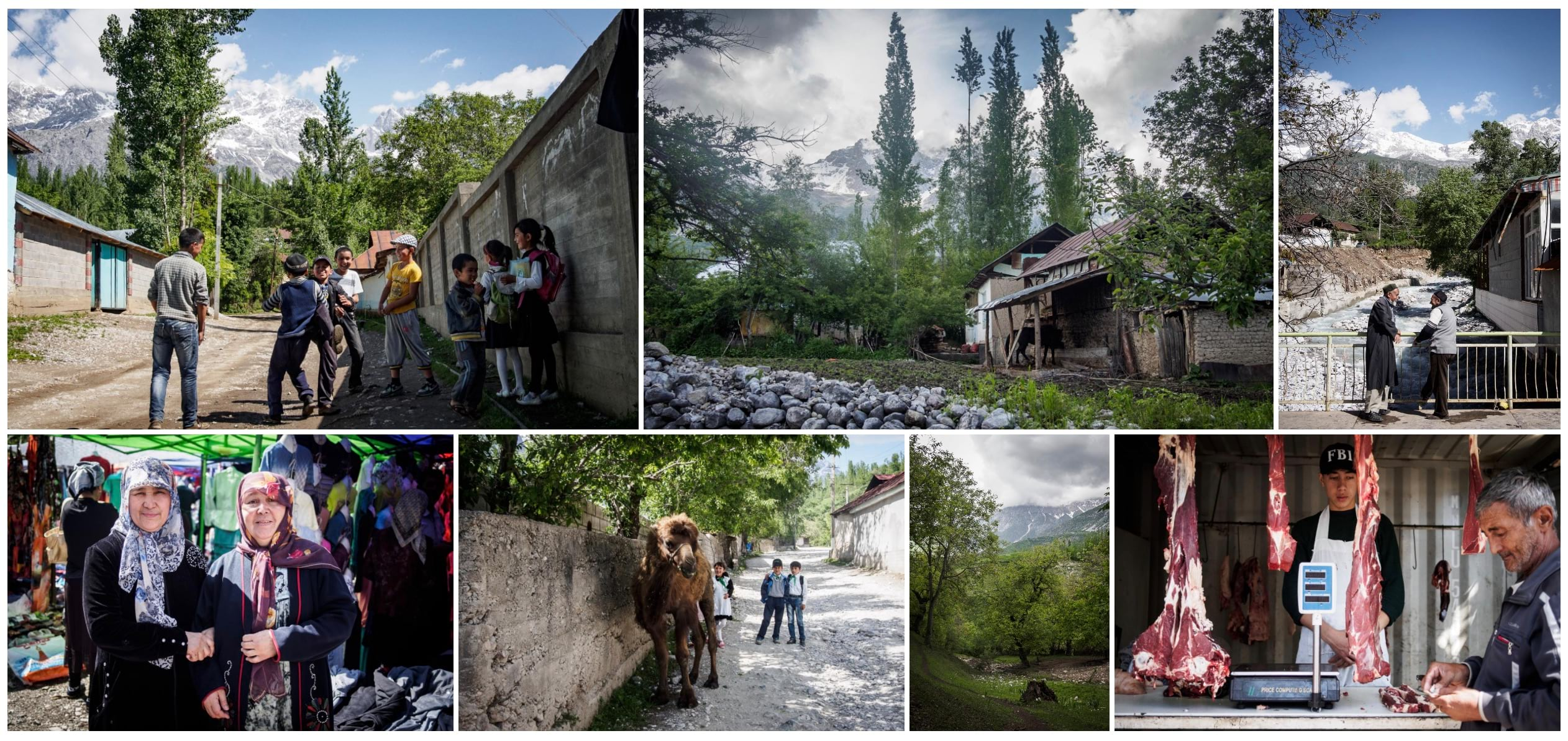 A collage of images of Kyrgyzstan