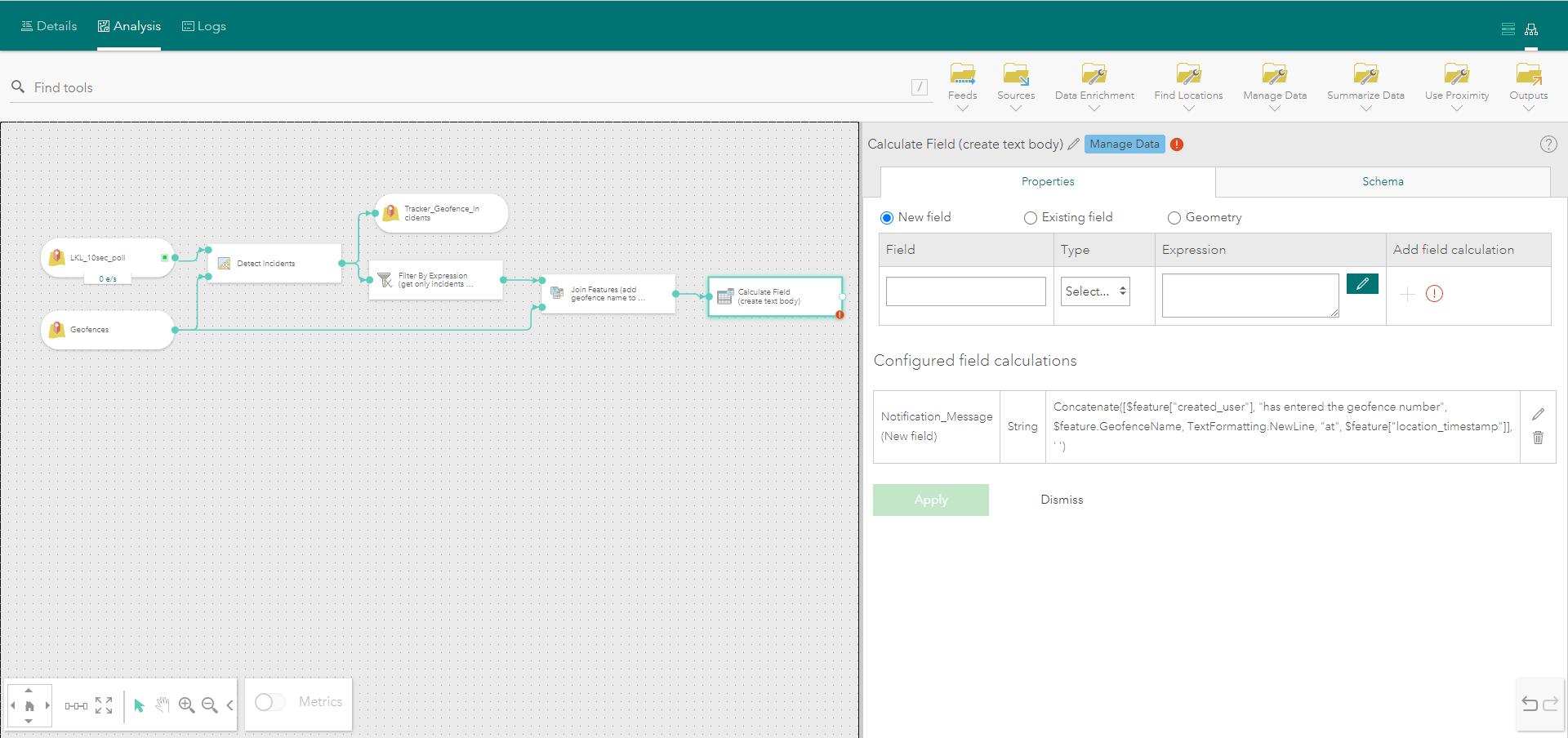 Calculate Field tool parameters