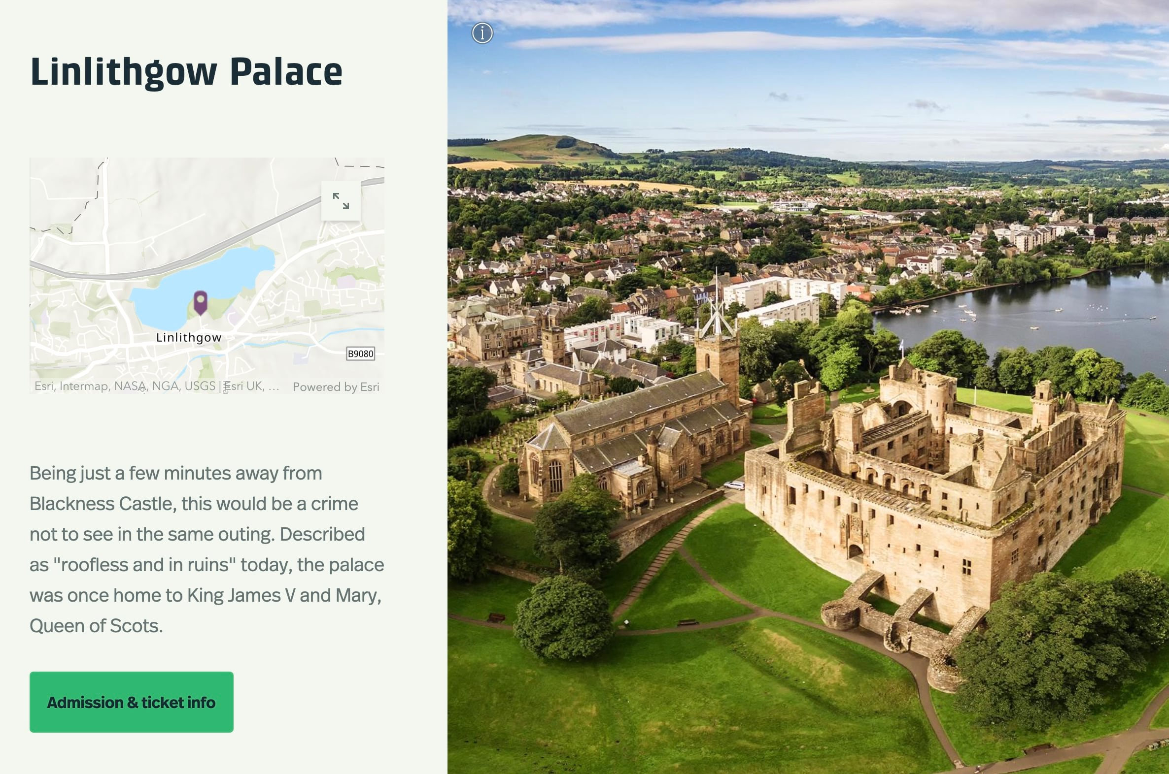 """A screenshot of an excerpt from """"Planning a Trip to See Scotland's Castles"""""""
