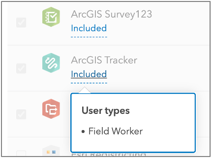 ArcGIS Tracker license included