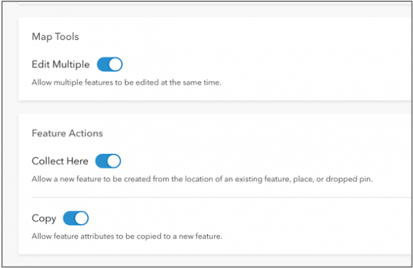 Map Tools and Feature Actions