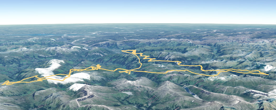 Paragliding track visualized with ArcGIS API for JavaScript
