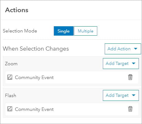Add actions to list element