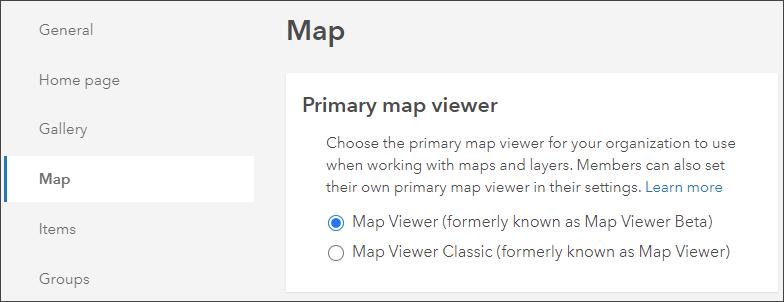 Set default map viewer