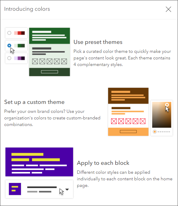 Home page theme