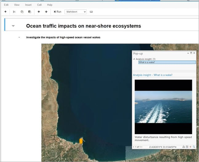 Notebook in ArcGIS Pro