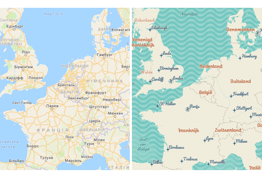 Ukrainian and Dutch maps