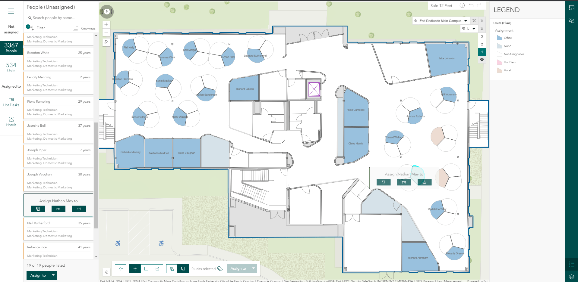 Space Planner Application for Office Assignment