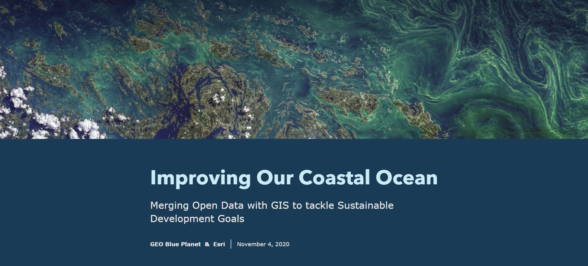 """Cover of the """"Improving Our Coastal Oceans"""" story"""