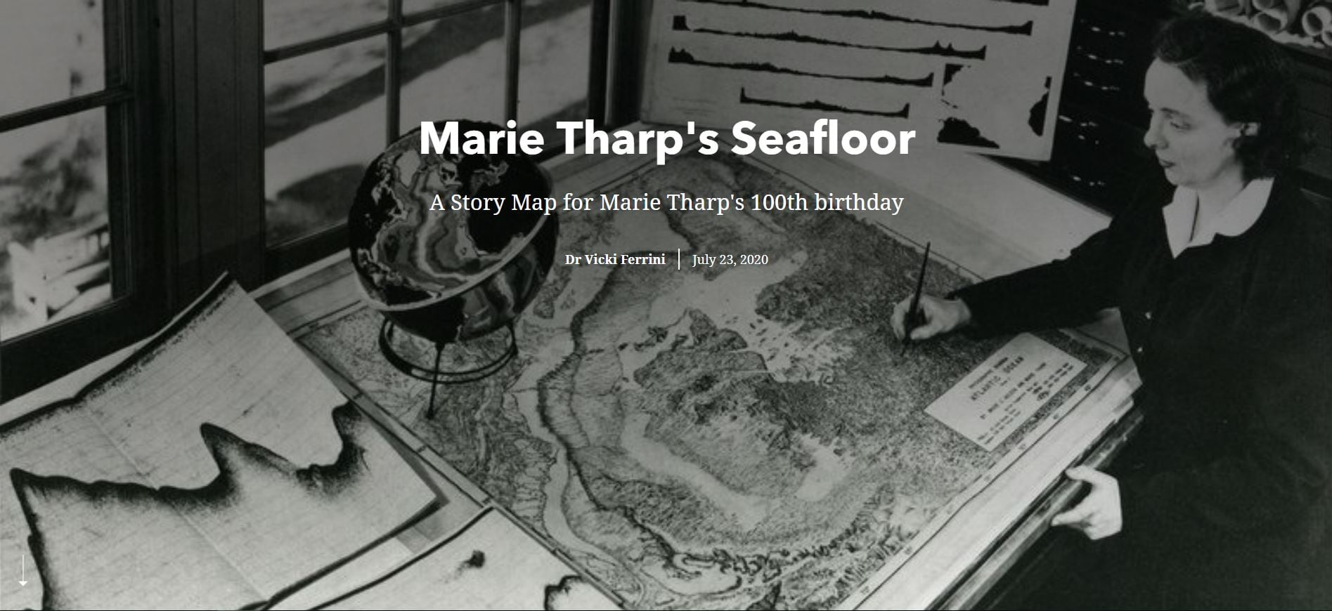 """Cover of the """"Marie Tharpe's Seafloor"""" story"""