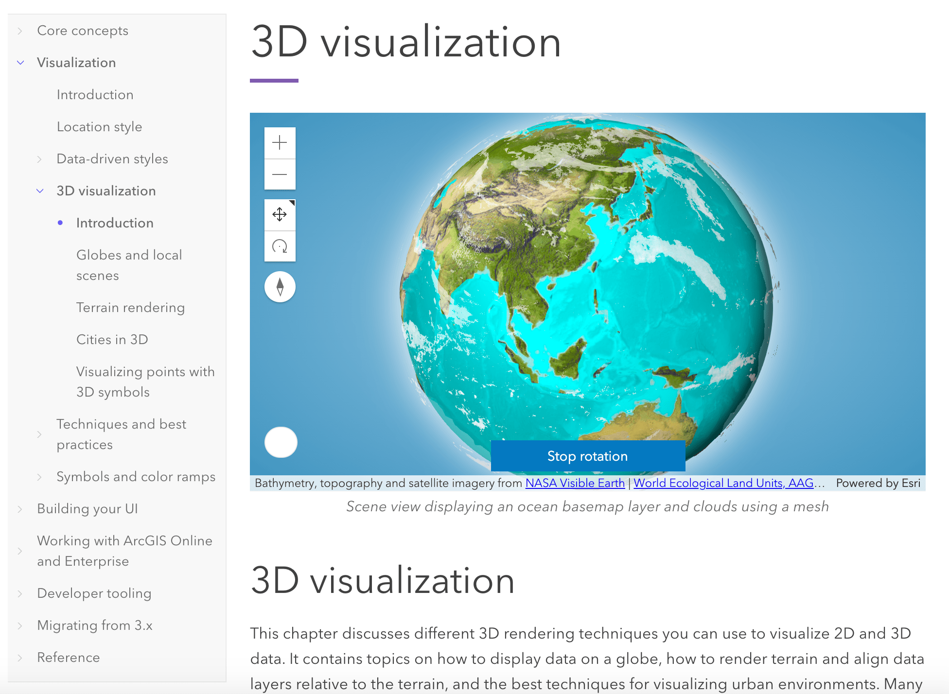 3D visualization home page