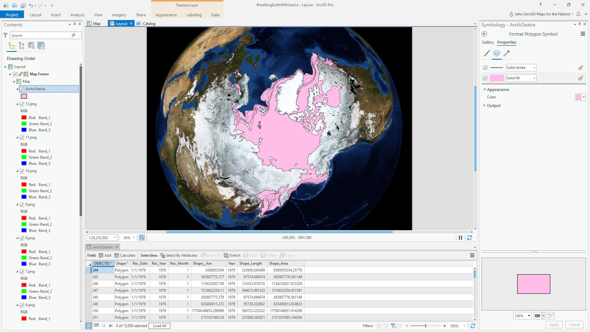 Sea Ice Extent data