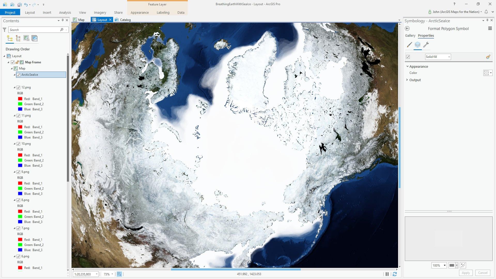Sea ice extents