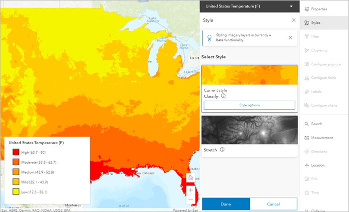 Classify imagery style in the new Map Viewer