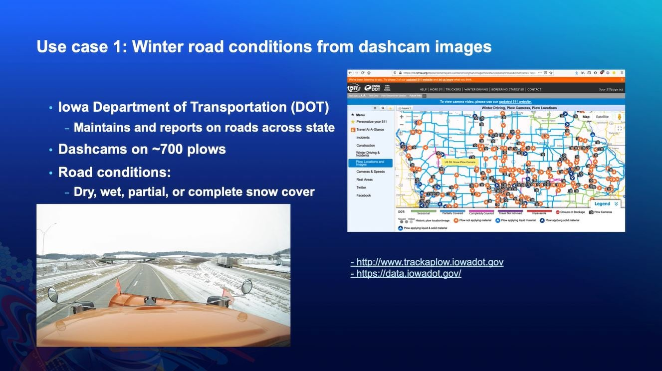 Identifying road condition from dashcam images
