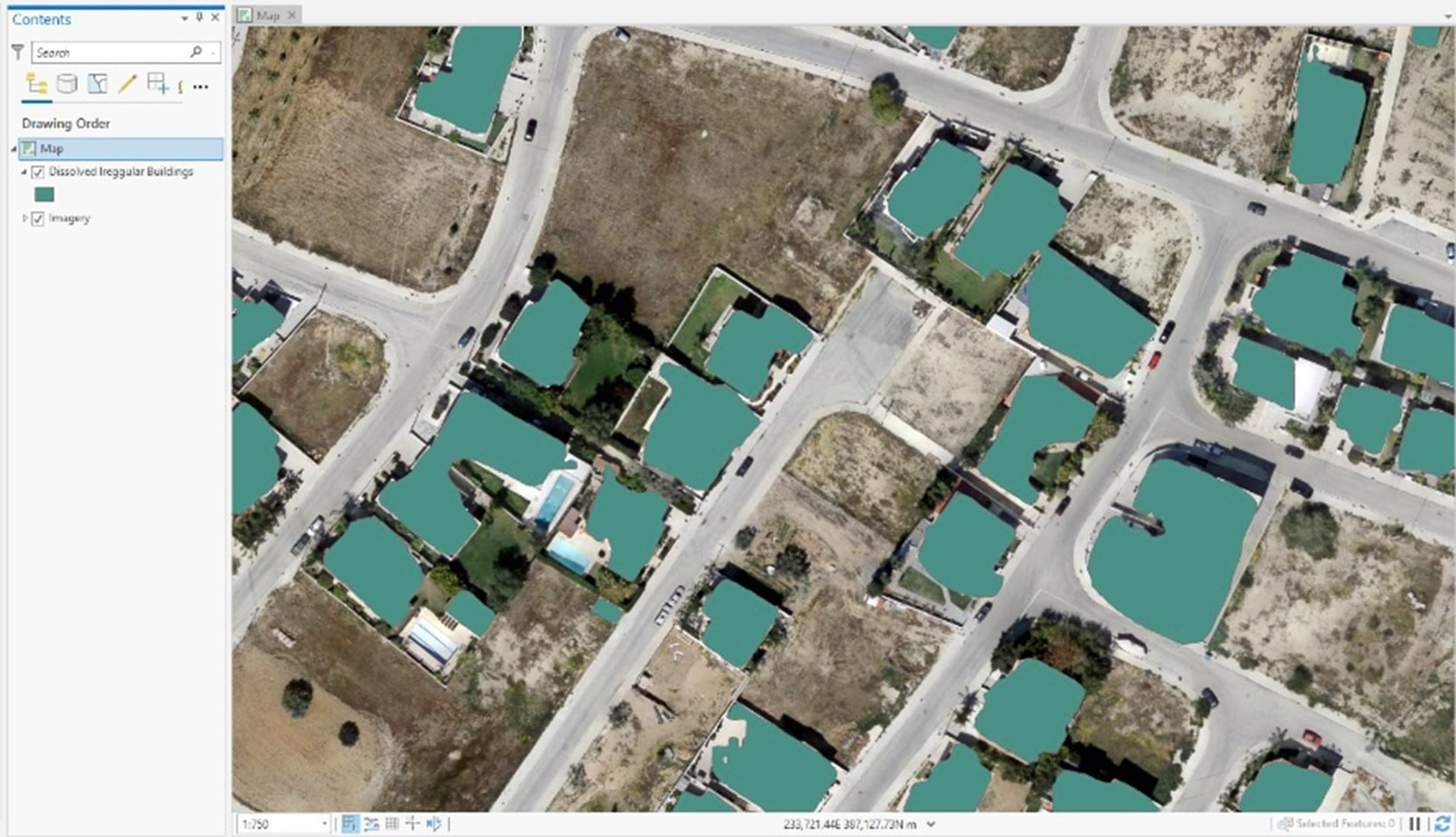 Irregularized Buildings Footprints