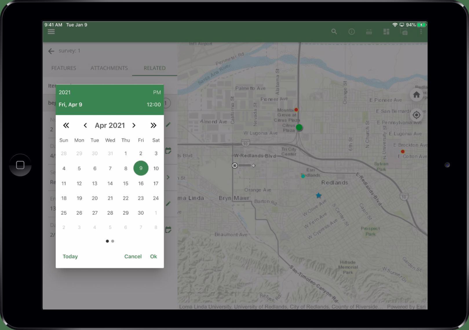 Enhanced calendar control