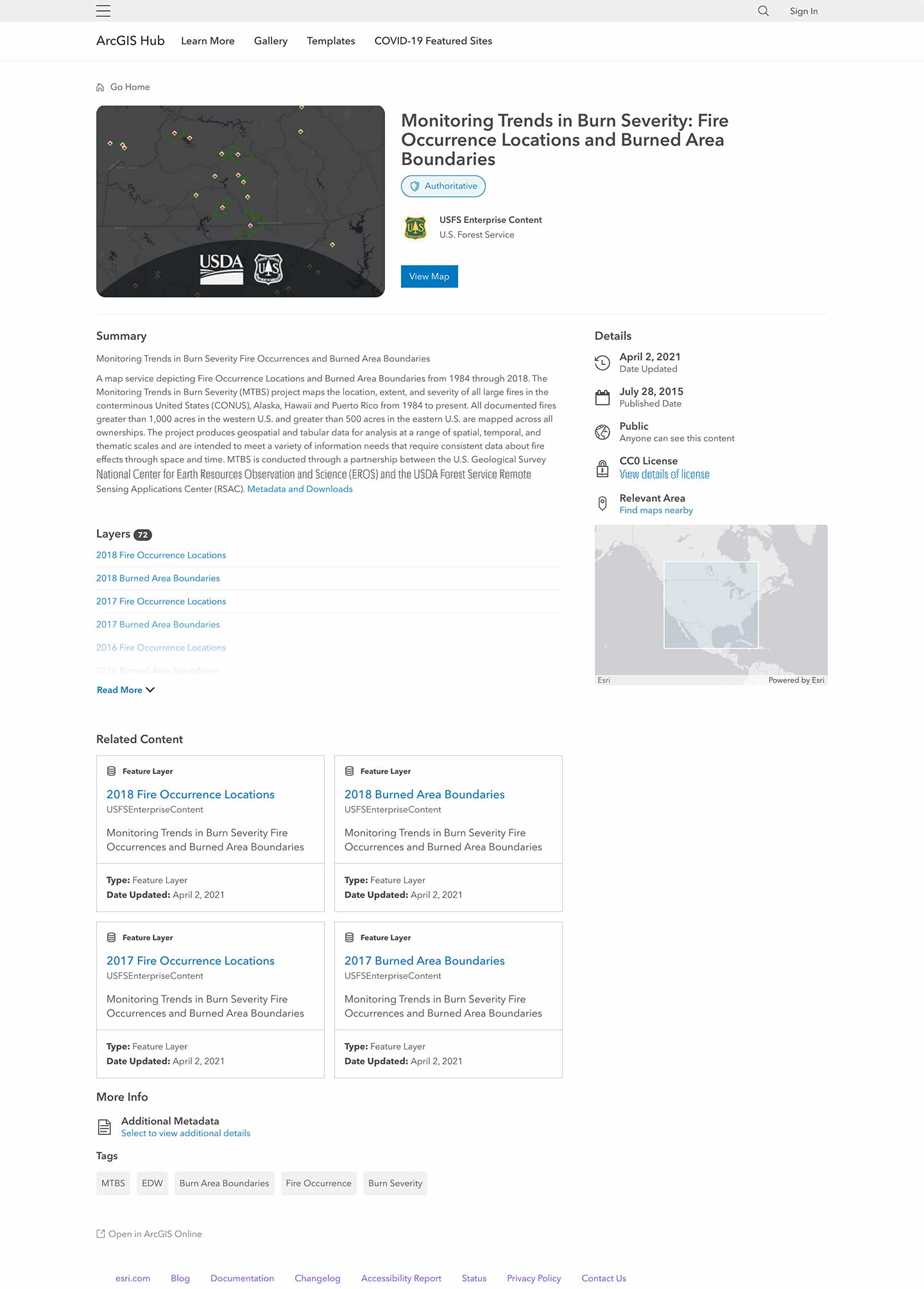 A view of the full details page.