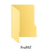 Image of the ProPAT (Performance Assessment Tool) folder in File Explorer