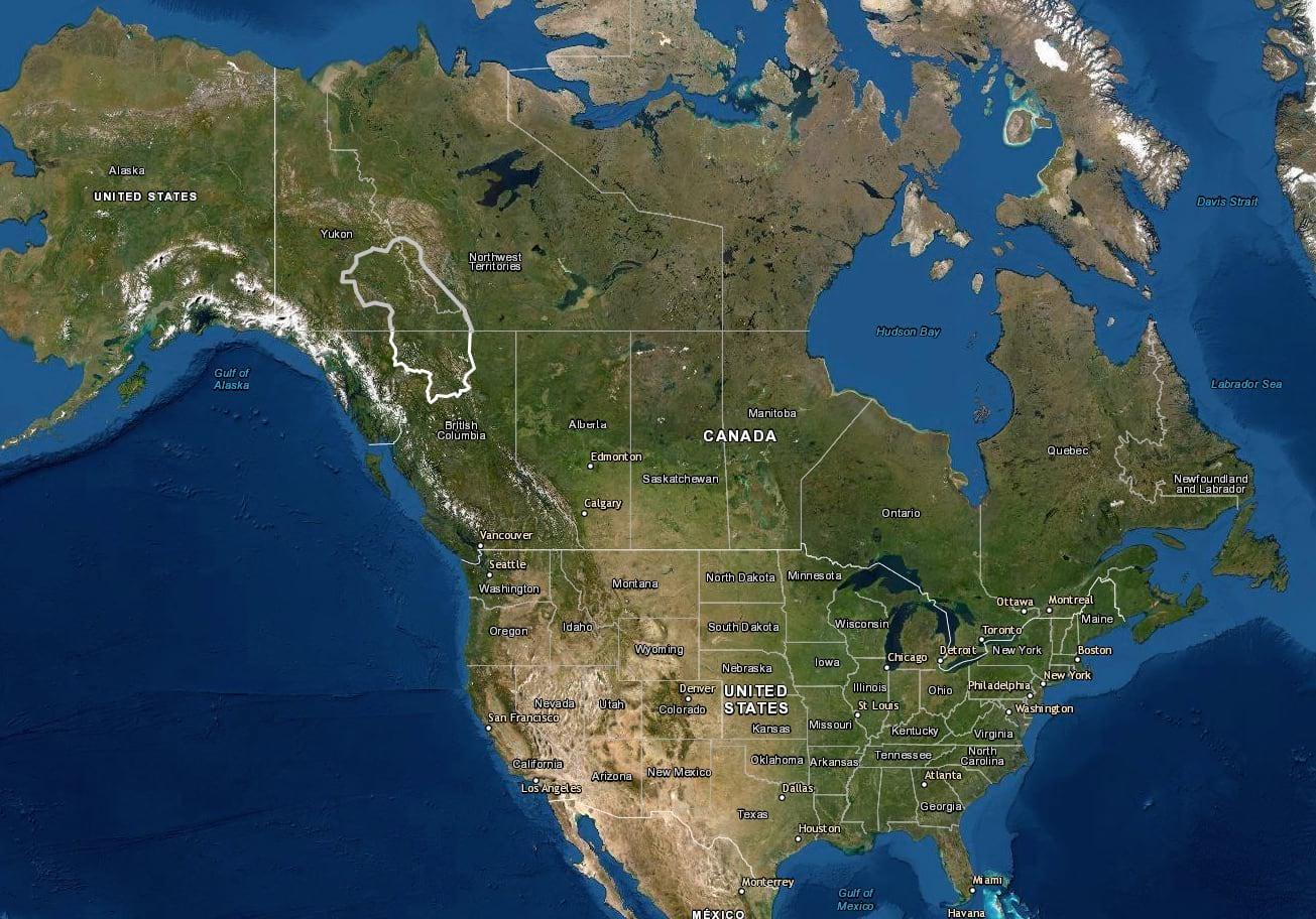 map of dene territory in northern Canada