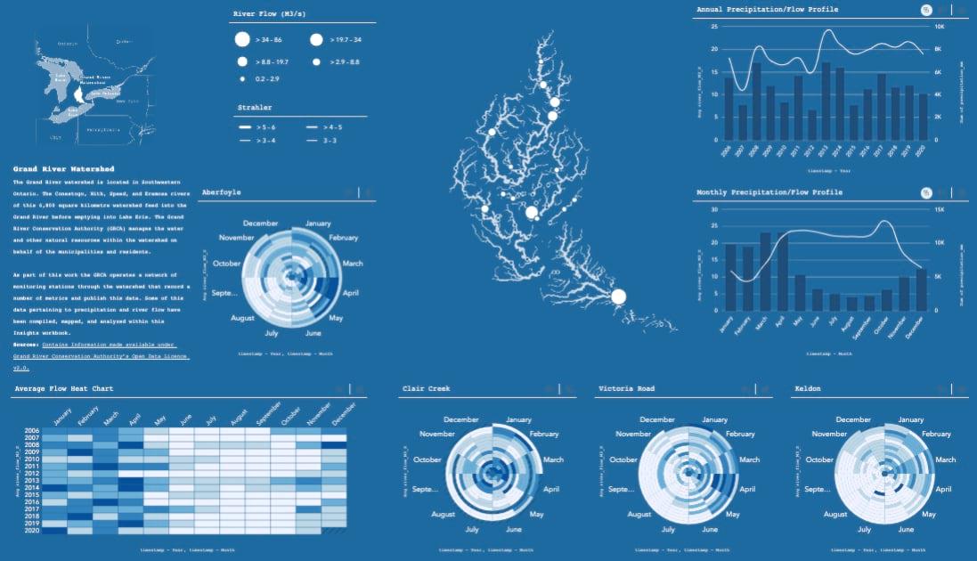 Configured Insights dashboard workbook.