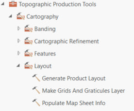Topographic Production tools Layout toolset