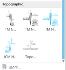 Topographic North Arrow drop-down list