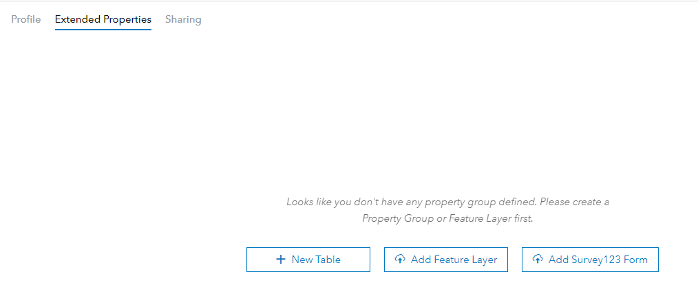 Extended Properties Add Survey123 Dialog