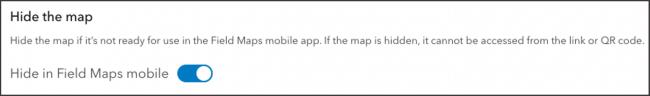 Hide in Field Maps