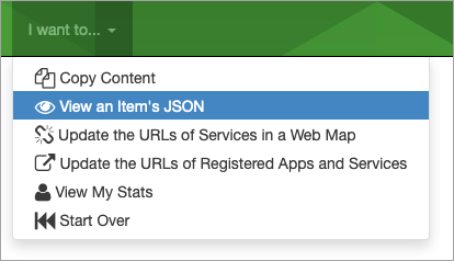 View and Item's JSON