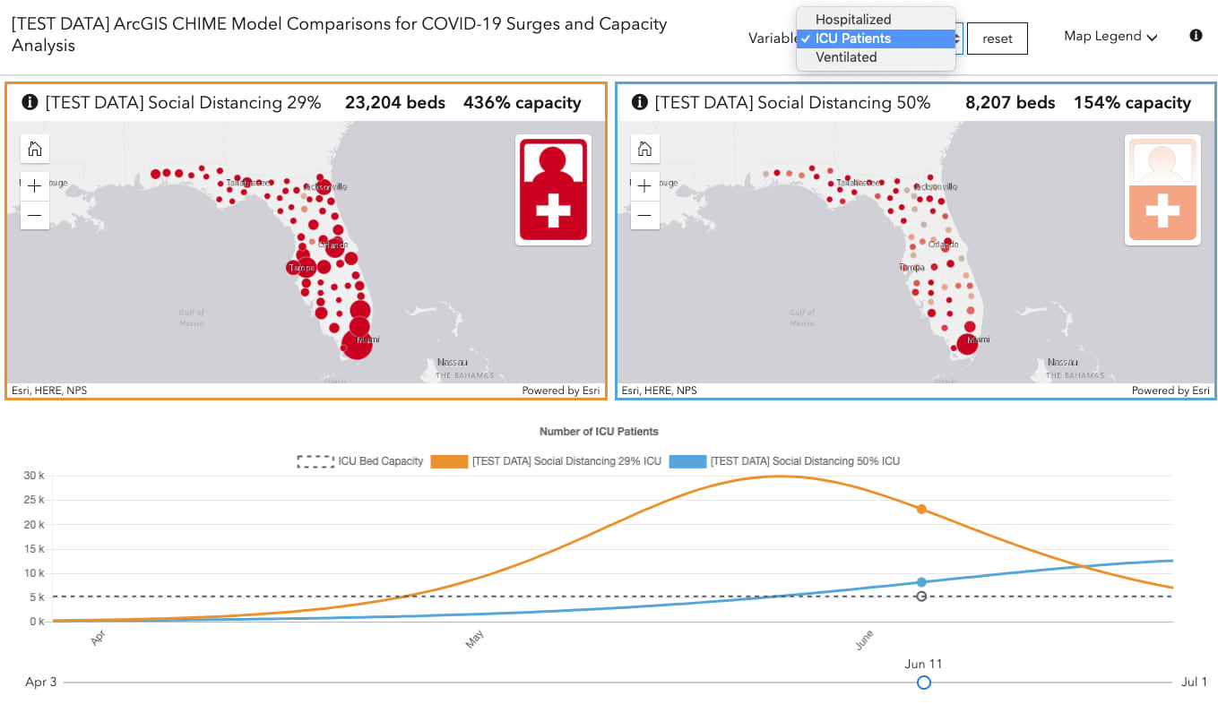 Capacity Analysis focuses on only one aspect of the COVID-19 pandemic: How does compliance to social distancing policies lessen the burden of our healthcare systems by geography?