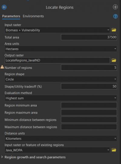 temukan wilayah parameter alat GP