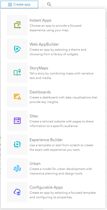 Create app button